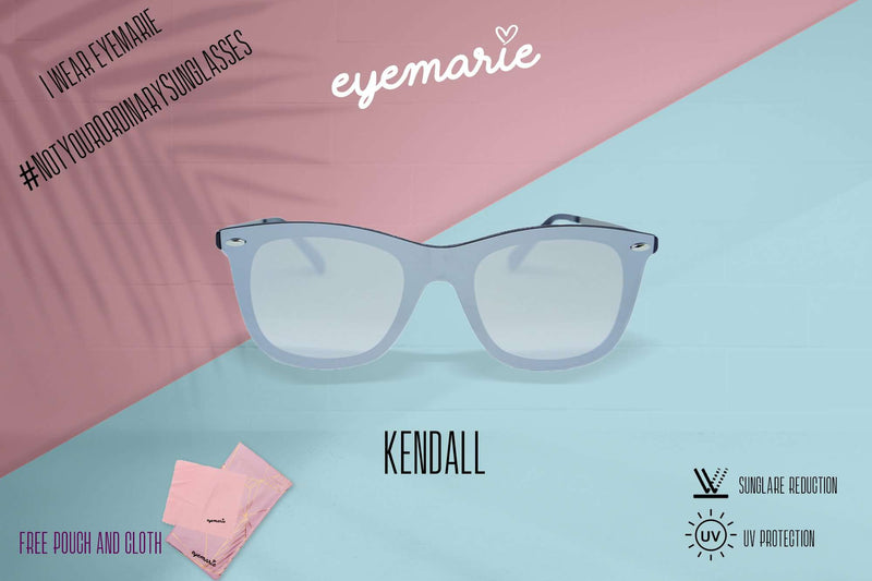 EyeMarie Kendall-Silver UV400 Protection Sunglass for Women