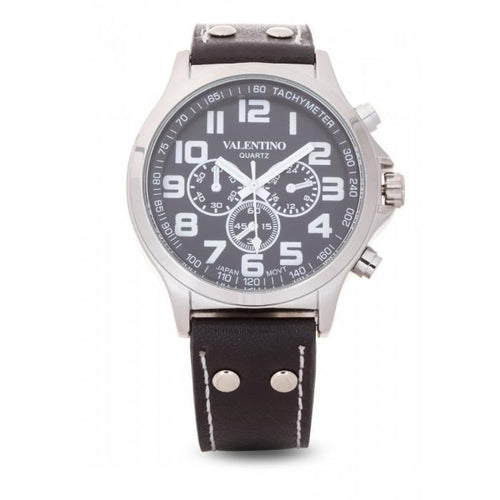 Valentino 20121931-BLACK DIAL CLASSIC TW STL LTHR IPS LEATHER STRAP Watch For Men - Watchportal Philippines
