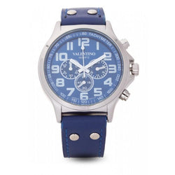 Valentino  20121931-BLUE DIAL CLASSIC TW STL LTHR IPS LEATHER STRAP Watch For Men - Watchportal Philippines