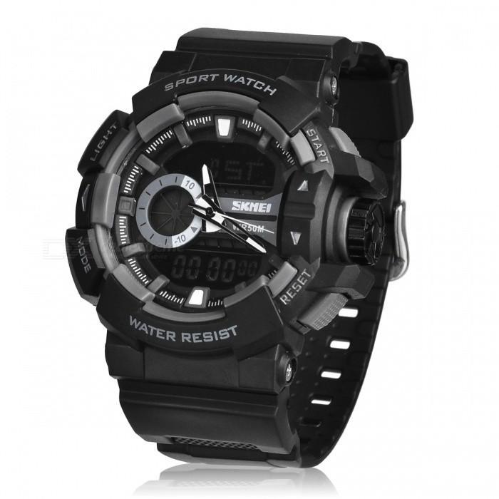 SKMEI AD1117 Black Resin Strap Watch for Men - Watchportal Philippines
