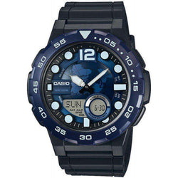 Casio AEQ-100W-2A Black Resin Strap Watch for Men - Watchportal Philippines