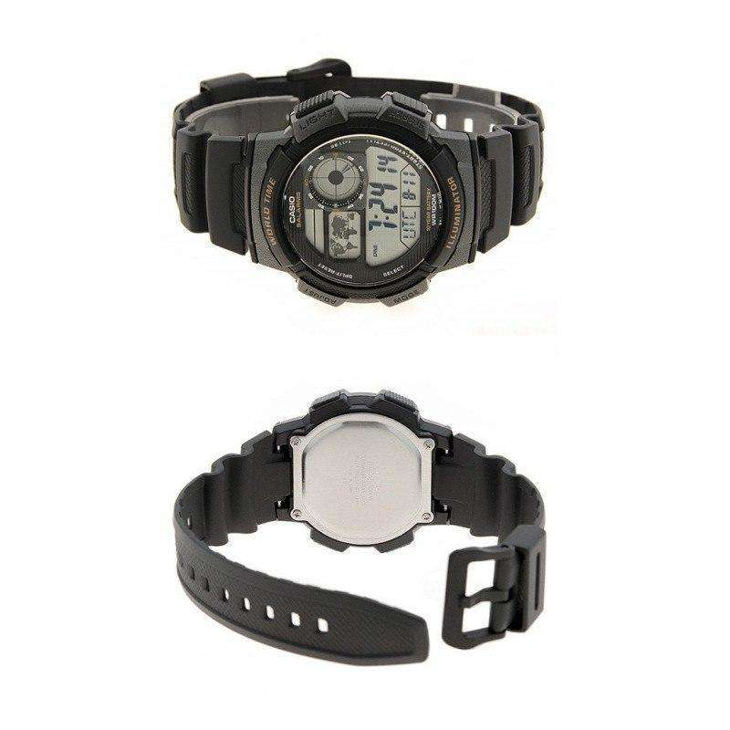 Casio AE-1000W-1A  Black Resin Strap Watch For Men - Watchportal Philippines