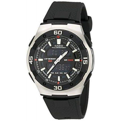 Casio AQ-164W-1A Black Resin Strap Watch for Men - Watchportal Philippines