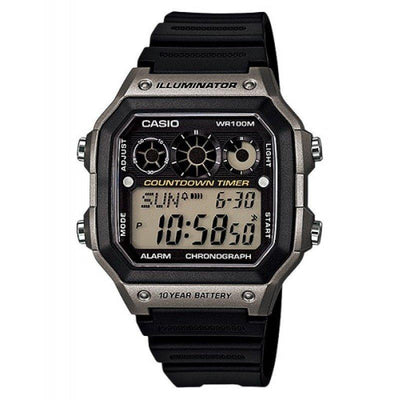 Casio AE-1300WH-8A  Black Resin Strap Watch For Men - Watchportal Philippines