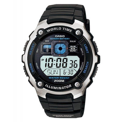 Casio AE-2000W-1A Black Resin Strap Watch for Men - Watchportal Philippines