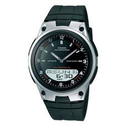 Casio Standard Men's Black/Silver Resin Strap Watch- AW-80-1A - Watchportal Philippines