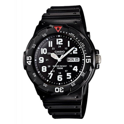 Casio Standard Men's Black/White Resin Strap Watch- MRW-200H-1B - Watchportal Philippines