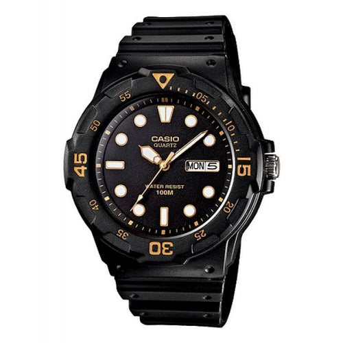 Casio Standard Men's Black/White Resin Strap Watch- MRW-200H-1E - Watchportal Philippines