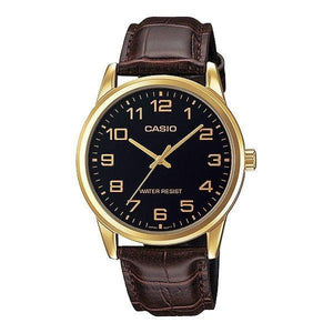 Casio MTP-V001GL-1B Brown Leather Watch For Men