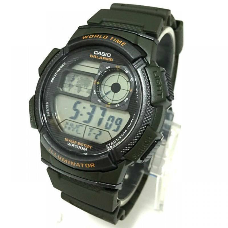 Casio AE-1000W-3A Green Resin Strap Watch for Men - Watchportal Philippines