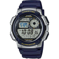 Casio AE-1000W-2A Navy Blue Resin Strap Watch for Men - Watchportal Philippines
