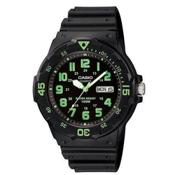 Casio MRW-200H-3B Black Resin Strap Watch for Men - Watchportal Philippines