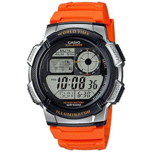 Casio AE-1000W-4B Orange Resin Strap Watch for Men - Watchportal Philippines