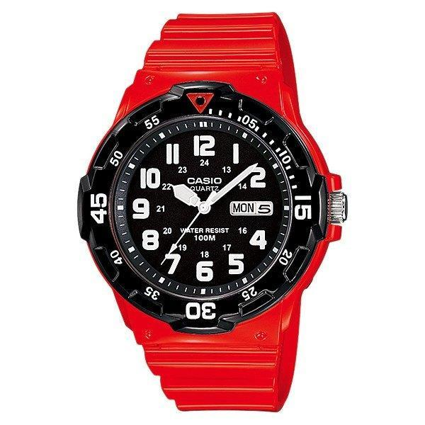 Casio Standard Men's Red/Black Resin Strap Watch- MRW-200HC-4B - Watchportal Philippines