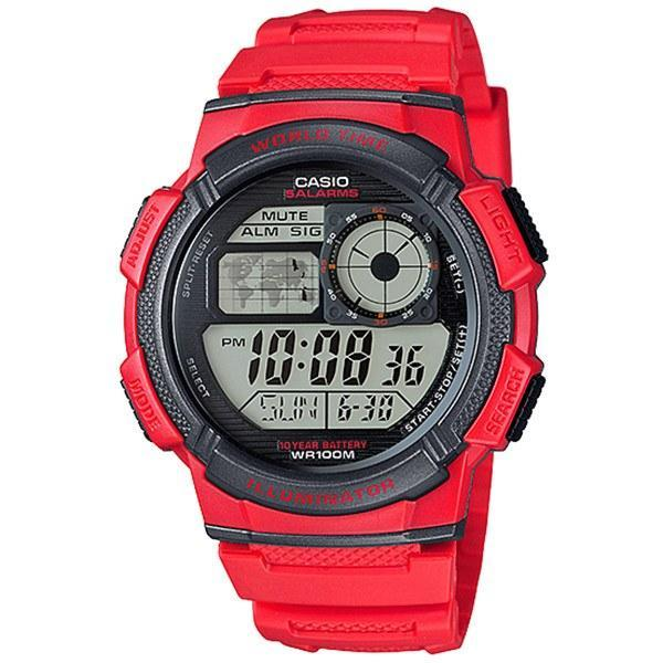 Casio AE-1000W-4A Red Resin Strap Watch for Men - Watchportal Philippines