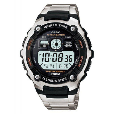 Casio AE-2000WD-1A Silver Stainless  Watch for Men - Watchportal Philippines
