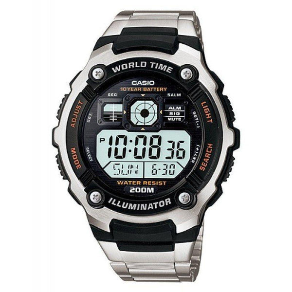 300597a627 Casio AE-2000WD-1A Silver Stainless Watch for Men | Watch Portal Philippines