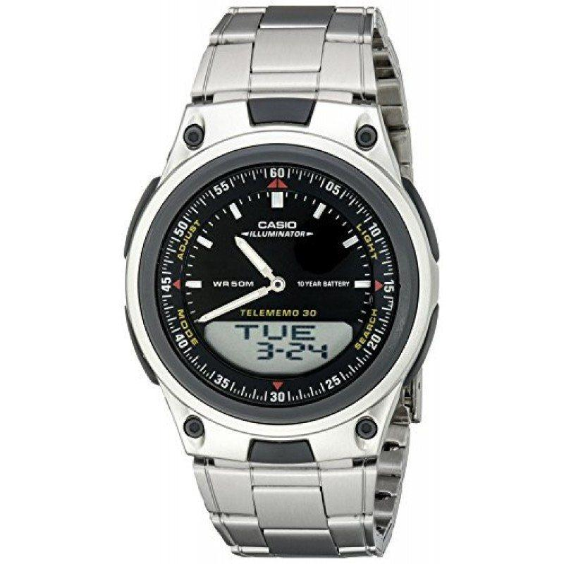 Casio Standard Men's Silver Stainless Steel Strap Watch- AW-80D-1AVDF - Watchportal Philippines