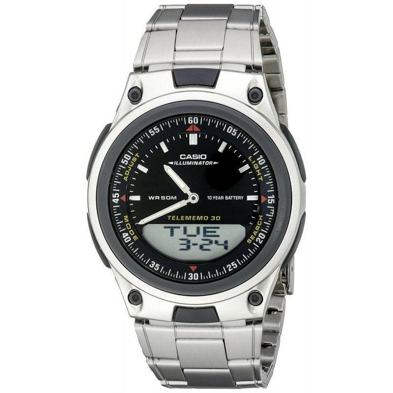 Watches - Casio Standard Men's Silver Stainless Steel Strap Watch- AW-80D-1AVDF