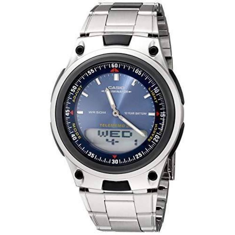 Watches - Casio Standard Men's Silver Stainless Steel Strap Watch- AW-80D-2AVDF