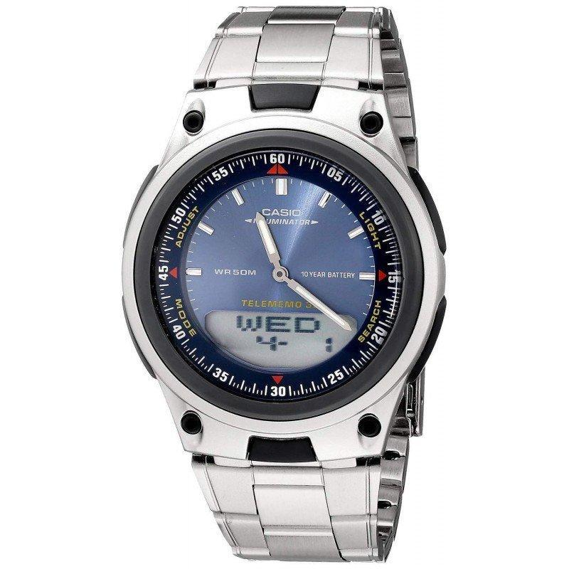 Casio Standard Men's Silver Stainless Steel Strap Watch- AW-80D-2AVDF - Watchportal Philippines