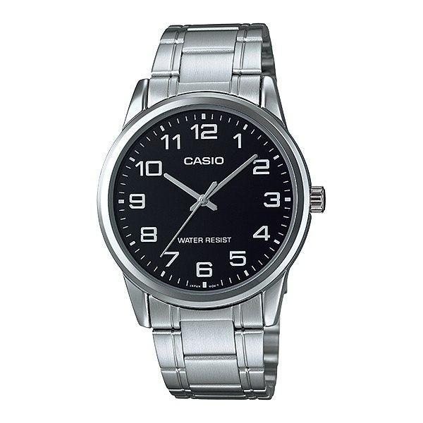 Casio Standard Men's Silver Stainless Steel Strap Watch- MTP-V001D-1B - Watchportal Philippines