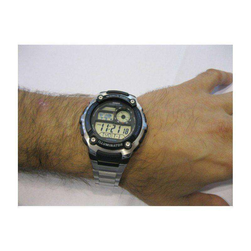 Casio AE-2100WD-1A Silver Stainless Watch Men - Watchportal Philippines