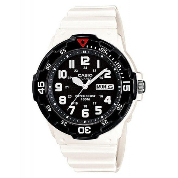Casio Standard Men's White/Black Resin Strap Watch- MRW-200HC-7B - Watchportal Philippines
