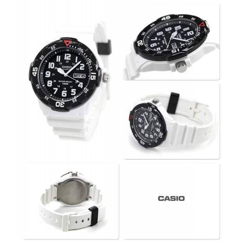 Watches - Casio Standard Men's White/Black Resin Strap Watch- MRW-200HC-7B