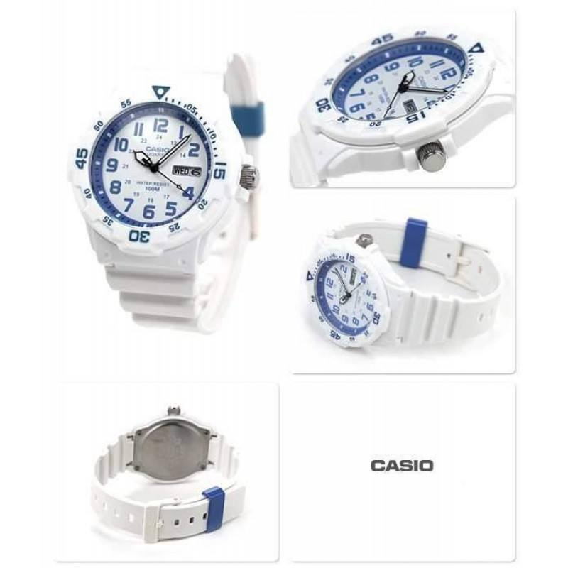 Casio Standard Men's White/Blue Resin Strap Watch- MRW-200HC-7B2 - Watchportal Philippines