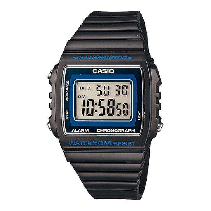 Casio Standard Unisex Black Resin Strap Watch- W-215H-8A (One Size)- For Men and Women - Watchportal Philippines