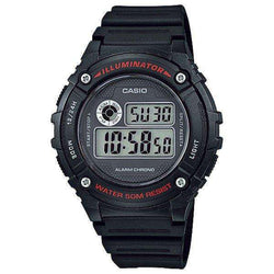 Casio Standard Unisex Black Resin Strap Watch- W-216H-1A (One Size)- For Men and Women - Watchportal Philippines