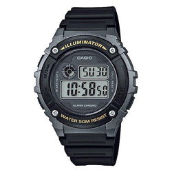 Casio Standard Unisex Black Resin Strap Watch- W-216H-1B (One Size)- For Men and Women - Watchportal Philippines
