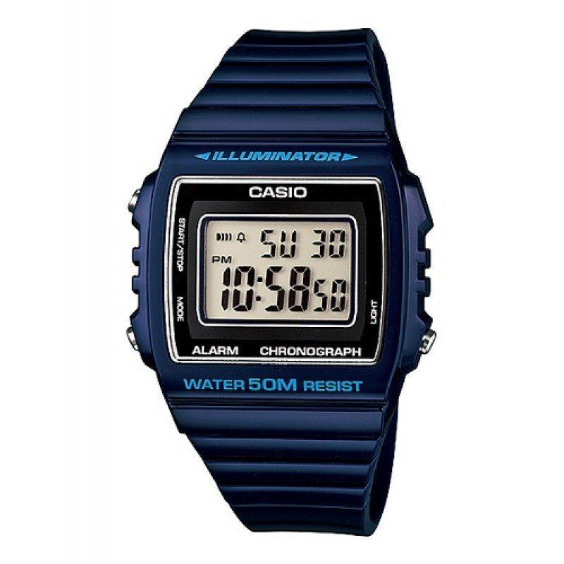 Casio Standard Unisex Navy Blue Resin Strap Watch- W-215H-2A (One Size)- For Men and Women - Watchportal Philippines