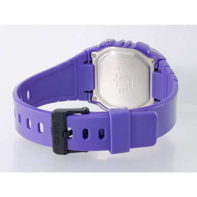 Casio Standard Unisex Purple Resin Strap Watch- W-215H-6A (One Size)- For Men and Women - Watchportal Philippines