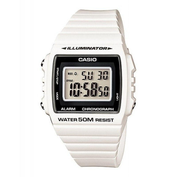 Casio Standard Unisex White/Black Resin Strap Watch- W-215H-7A (One Size)- For Men and Women - Watchportal Philippines