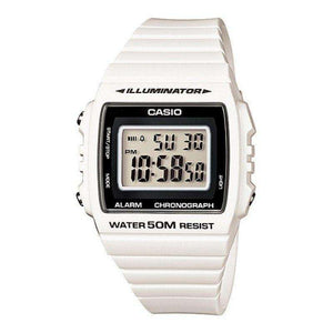 Casio W-215H-7A White Resin Strap Watch For Men and Women