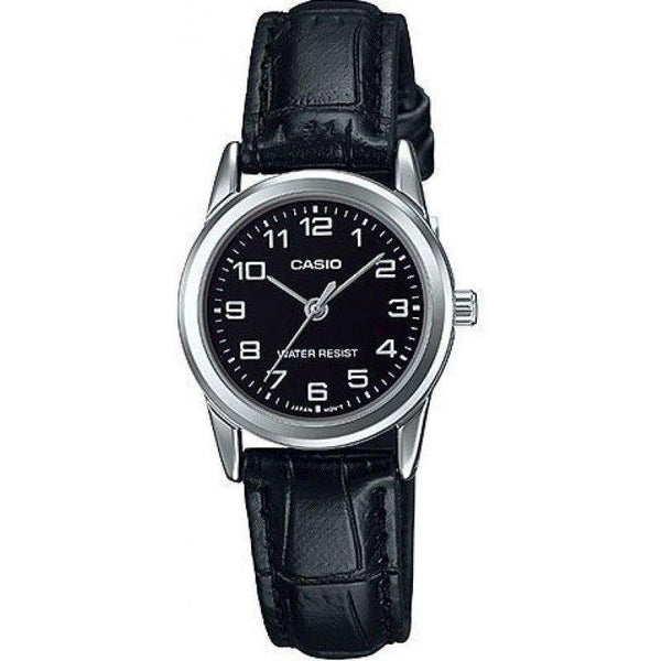 Casio LTP-V001L-1B Black Leather Watch for Women - Watchportal Philippines