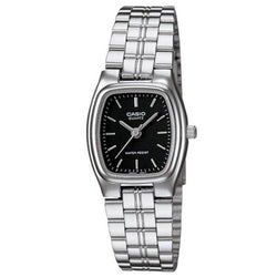 Casio Standard Women's Silver/Black Stainless Steel Strap Watch- LTP-1169D-1A - Watchportal Philippines