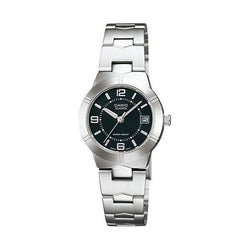 Casio Standard Women's Silver/Black Stainless Steel Strap Watch- LTP-1241D-1A (Small Size) - Watchportal Philippines