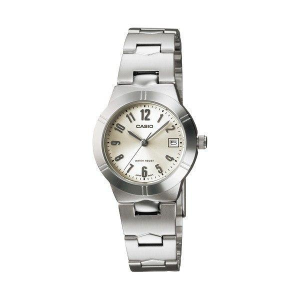 Casio Standard Women's Silver/White Stainless Steel Strap Watch- LTP-1241D-7A2 (Small Size) - Watchportal Philippines