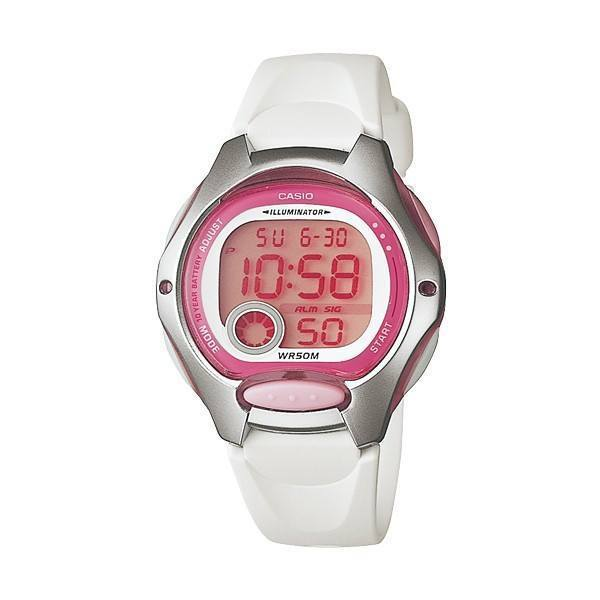 Watches - Casio Standard Women's White/Pink Resin Strap Watch- LW-200-7A W