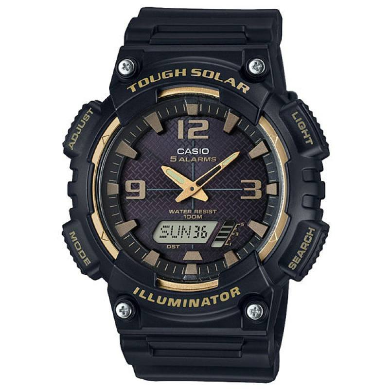 Casio AQ-S810W-1A3 Black Solar Powered Watch for Men - Watchportal Philippines