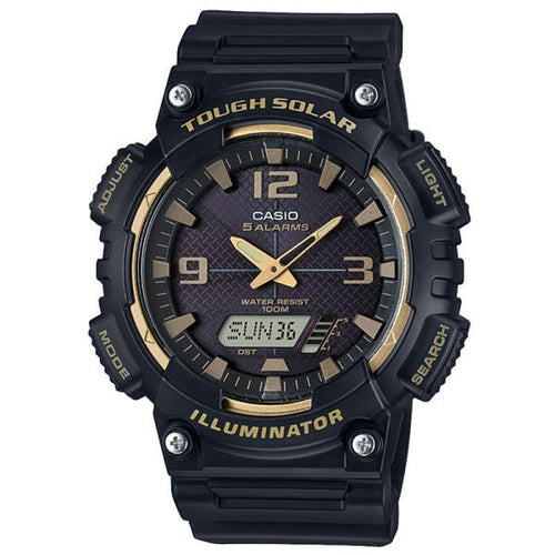 Casio Tough Solar Men's Black Resin Strap Watch-  AQ-S810W-1A3 - Watchportal Philippines