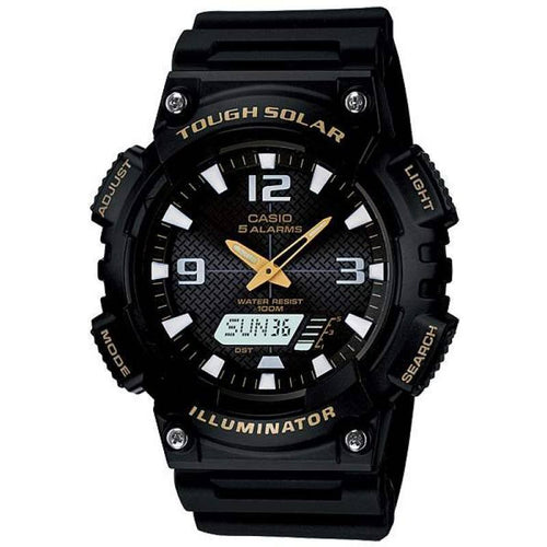 Casio Tough Solar Men's Black Resin Strap Watch- AQ-S810W-1B - Watchportal Philippines