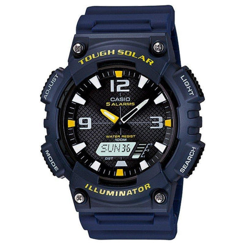 Casio Tough Solar Men's Blue Resin Strap Watch- AQ-S810W-2A - Watchportal Philippines