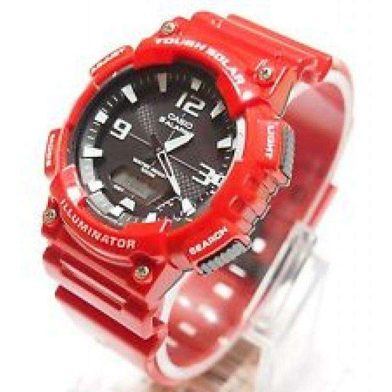 Casio AQ-S810WC-4A Red Solar Powered Watch For Men - Watchportal Philippines