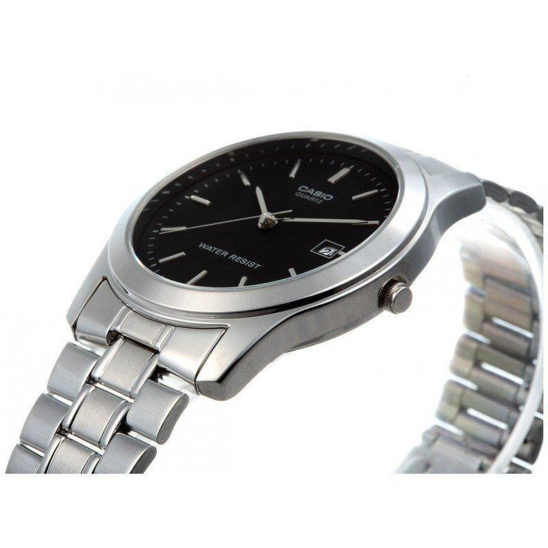 Casio Vintage Men's Black Dial/ Silver Stainless Steel Strap Watch- MTP-1141A-1A - Watchportal Philippines