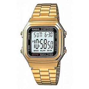 Casio Vintage A178WGA-1A Gold Plated Watch For Men and Women