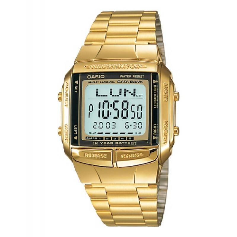 1894246bc63 Casio Vintage DB-360G-9A Gold Plated Watch For Men and Women